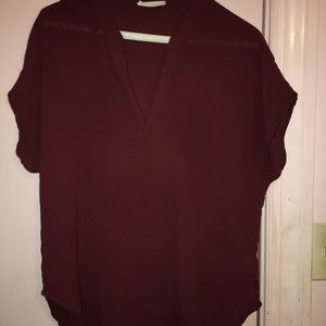 LUSH Burgundy Blouse